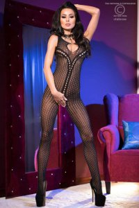 Bodystocking CR4093 schwarz Chilirose