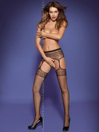 Garter Stockings S502 schwarz Obsessive