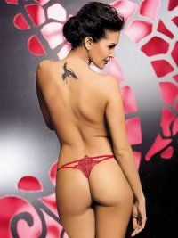 Luiza Thong rot Obsessive S/M