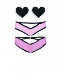 Nippies Intimate Cage Cheeky Pink Bristols 6