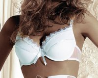 Roza-Amaranta weiss Push Up BH*