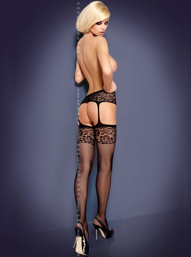 Garter Stockings S500 schwarz Obsessive