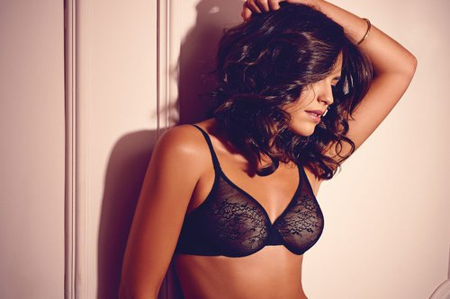 Gossard Glossies Lace Moulded BH Black