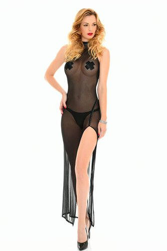 Poussycat-Long-Dress Mesh Patrice Catanzaro XS