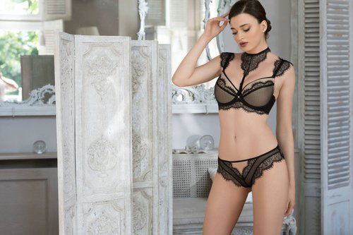 Roza-Idrisa schwarz Push Up BH 75B