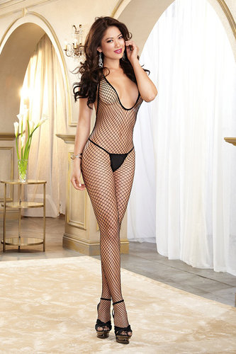 DR0079 Bodystocking ouvert schwarz Dreamgirl